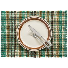 Now Designs Chindi Placemat in Turquoise/Brown - Closeouts