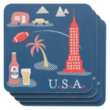 Now Designs Cork-Backed Coasters - Set of 4 in America - Closeouts