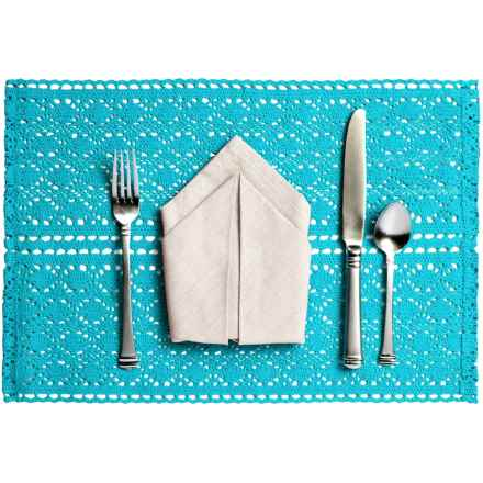 Now Designs Crocheted Cotton Placemat in Blue - Closeouts