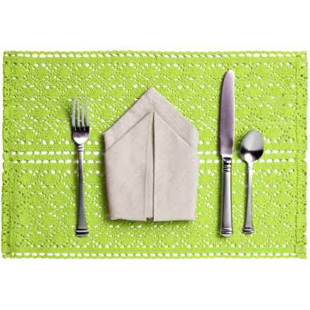Now Designs Crocheted Cotton Placemat in Green - Closeouts