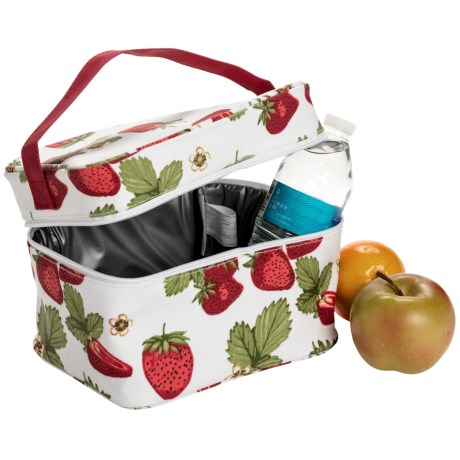 Now Designs Cube Cooler Tote Bag - 6-Can in Strawberries