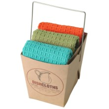 Now Designs Dishcloth Take-Out Set - 3-Piece in Bali Blue/Cactus/Crush - Closeouts