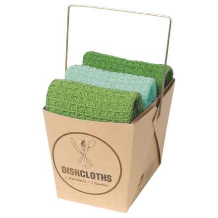 Now Designs Dishcloth Take-Out Set - 3-Piece in Cypress - Closeouts