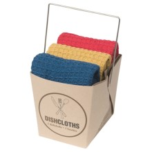 Now Designs Dishcloth Take-Out Set - 3-Piece in Lolliop/Honey/Eclipse - Closeouts