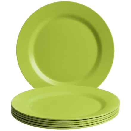 Now Designs Ecologie Dinner Plates - Set of 6 in Cactus - Closeouts