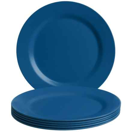 Now Designs Ecologie Dinner Plates - Set of 6 in Cobalt - Closeouts