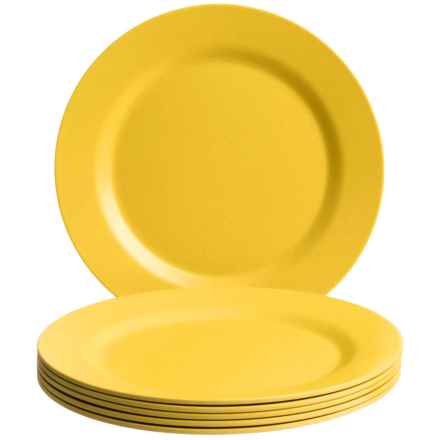 Now Designs Ecologie Dinner Plates - Set of 6 in Sunshine - Closeouts