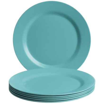 Now Designs Ecologie Dinner Plates - Set of 6 in Turquoise - Closeouts