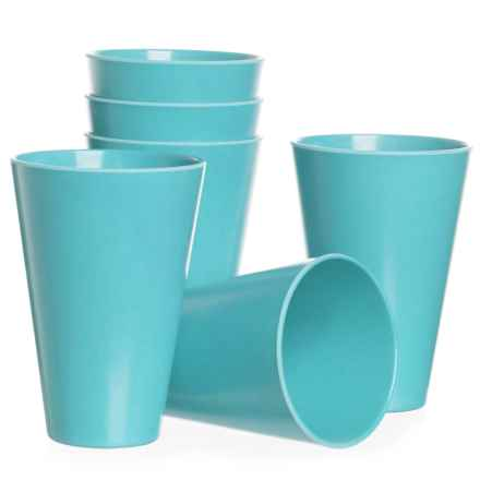 Now Designs Ecologie Tumblers - 14 fl.oz., Set of 6 in Turquoise - Closeouts