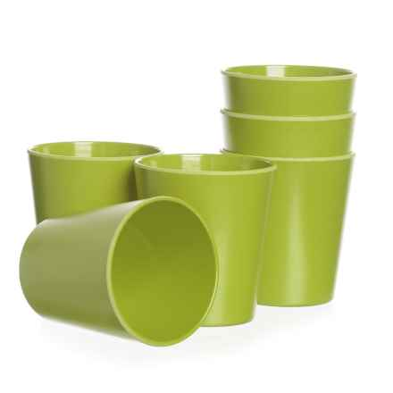 Now Designs Ecologie Tumblers - 8 fl.oz., Set of 6 in Cactus - Closeouts