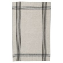 Now Designs Flax Linen Tea Towel in Black - Closeouts