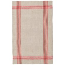 Now Designs Flax Linen Tea Towel in Poppy - Closeouts