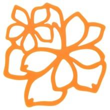Now Designs Flower Trivet in Kumquat - Closeouts