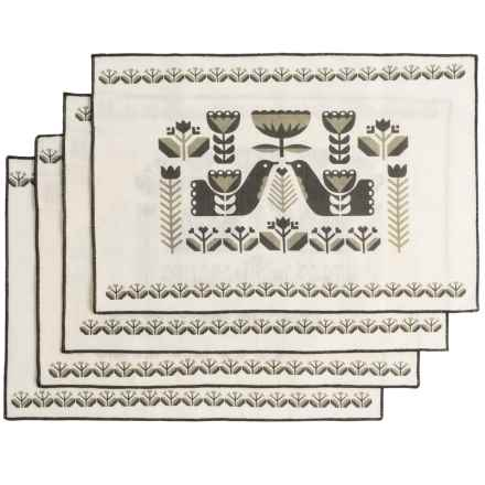 Now Designs Folklore Placemats - Set of 4 in Linen - Closeouts