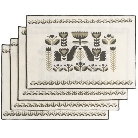 Now Designs Folklore Placemats - Set of 4 in Linen