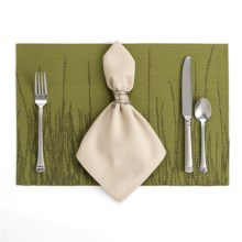 Now Designs Grassland Placemat - Woven Vinyl in Olive - Closeouts