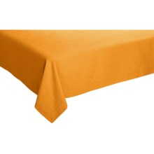"Now Designs Hemstitch Tablecloth - Cotton, 60x108"" in Kumquat - Closeouts"