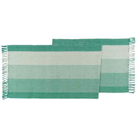 "Now Designs Horizon Stripe Table Runner - 18x80"" in Everglade - Closeouts"