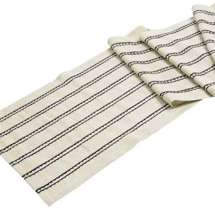 """Now Designs Kala Striped Table Runner - 13x72"""" in Black - Closeouts"""