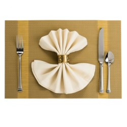 Now Designs Lumin Placemat - Woven Vinyl in Gold