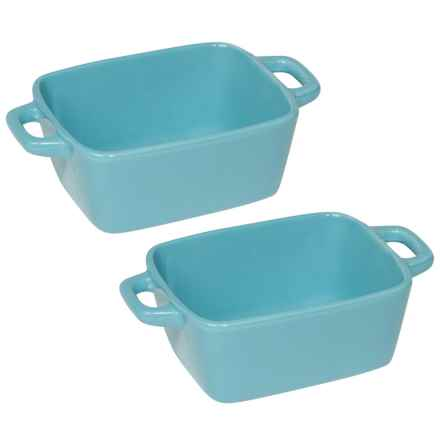Now Designs Mini Ceramic Loaf Pans - Set of 4 in Blue - Closeouts