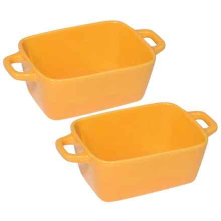 Now Designs Mini Ceramic Loaf Pans - Set of 4 in Saffron - Closeouts