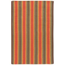 "Now Designs Nova Stripe Cotton Kitchen Mat - 24x36"" in Olive - Closeouts"