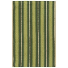 "Now Designs Nova Stripe Cotton Kitchen Mat - 24x36"" in Pine - Closeouts"