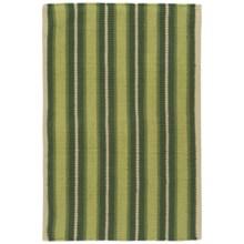 "Now Designs Nova Stripe Cotton Kitchen Mat - 24x36"" in Pine - Closeouts"