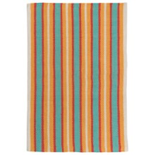 "Now Designs Nova Stripe Cotton Kitchen Mat - 24x36"" in Pool - Closeouts"