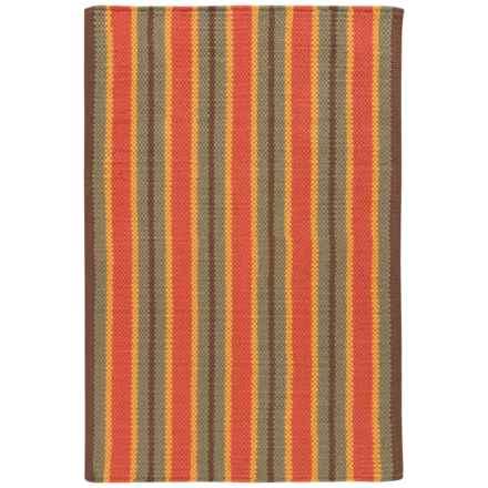 Now Designs Nova Stripe Cotton Kitchen Mat - 2'x3' in Olive - Closeouts