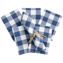 Now Designs Picnic Check Cloth Napkins - Set of 6 in Regatta - Closeouts