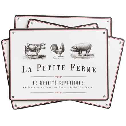 Now Designs Placemats - Set of 4 in La Ferme Petite - Closeouts