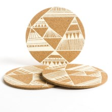 Now Designs Printed Cork Trivets - Set of 3 in Summit - Closeouts