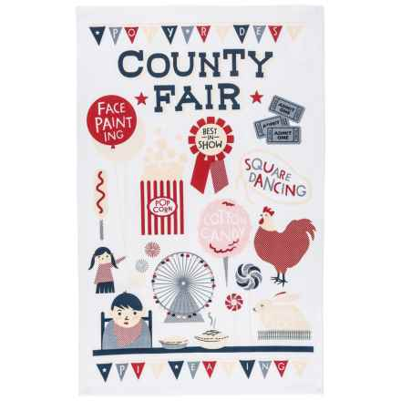 Now Designs Printed Cotton Tea Towel in County Fair - Closeouts