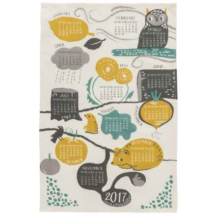 Now Designs Printed Cotton Tea Towel in Into The Woods Print - Closeouts