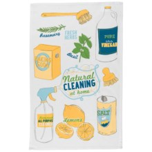 Now Designs Printed Cotton Tea Towel in Natural Cleaning - Closeouts