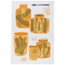 Now Designs Printed Cotton Tea Towel in Pickles - Closeouts