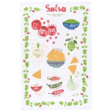 Now Designs Printed Cotton Tea Towel in Salsa Fresca - Closeouts