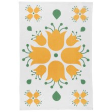 Now Designs Printed Cotton Tea Towel in Tulip - Closeouts