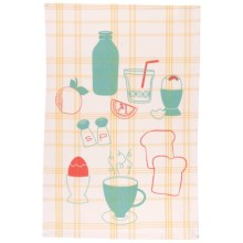 Now Designs Printed Cotton Tea Towel in Up & Eat Em - Closeouts