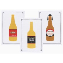 Now Designs Printed Dish Towels - Set of 3 in Beer Labels - Closeouts