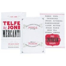 Now Designs Printed Dish Towels - Set of 3 in Mercantile Prnt - Closeouts
