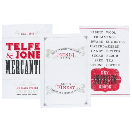 Now Designs Printed Dish Towels - Set of 3 in Mercantile Prnt