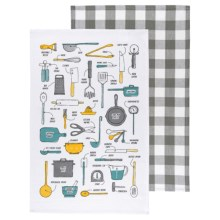 Now Designs Printed Tea Towels - Set of 2 in Kitchen Essentials - Closeouts