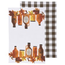 Now Designs Printed Tea Towels - Set of 2 in Maple Syrup - Closeouts