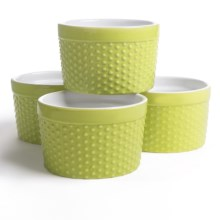 Now Designs Raised Dot Ramekins - Set of 4 in Pistachio - Closeouts