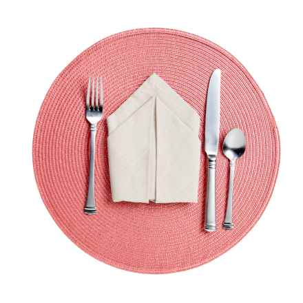Now Designs Round Placemat - Woven Vinyl in Sandalwood - Closeouts