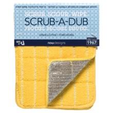 Now Designs Scrub-A-Dub Dishcloths - Set of 4 in Lemon - Closeouts