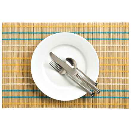 Now Designs Seychelles Bamboo Placemat in Cheddar - Closeouts